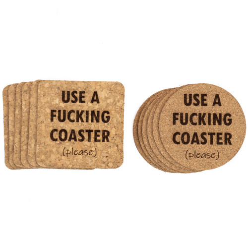 Use A Fucking Coaster (Please) Cork Coasters