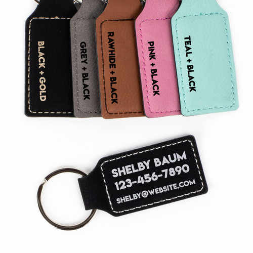Promotional Personalized Faux Leather Keychain