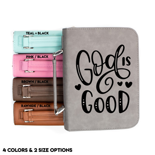 God Is Good Faux Leather Bible Cover