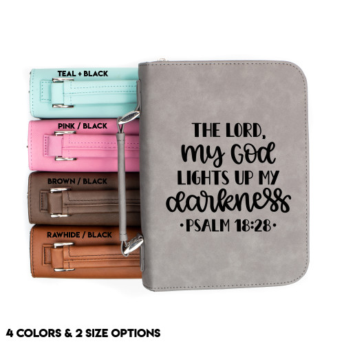 Psalm 18:28 Faux Leather Bible Cover