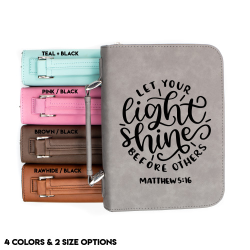 Matthew 5:16 Faux Leather Bible Cover