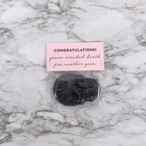 Congratulations You've Avoided Death For Another Year Skull Bath Bomb