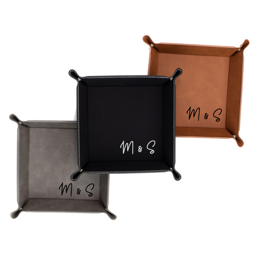 Personalized Couple Initials Jewelry Ring Tray Keys Dish