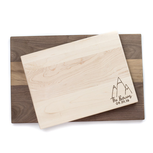 Personalized Mountain Cutting Board