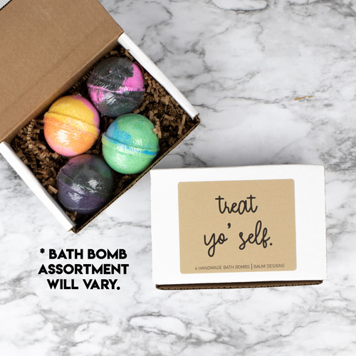 Treat Yo' Self  Bath Bomb 4pc Set