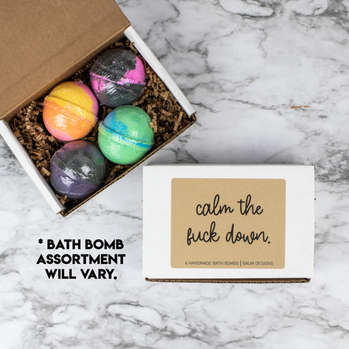 Calm The Fuck Down Bath Bomb 4pc Set