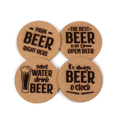 Beer Cork Coaster Set