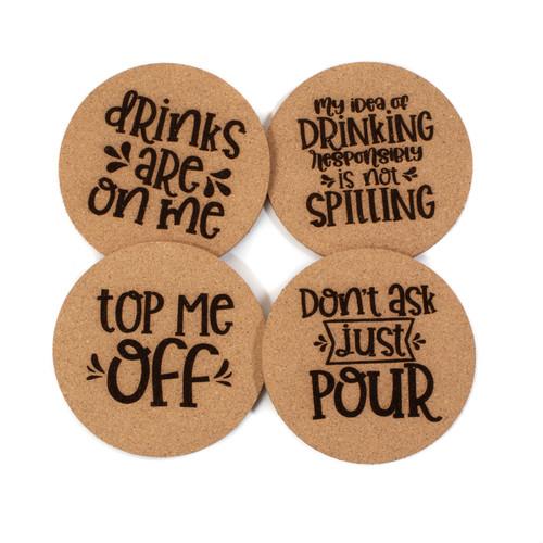 Drinking Cork Coaster Set
