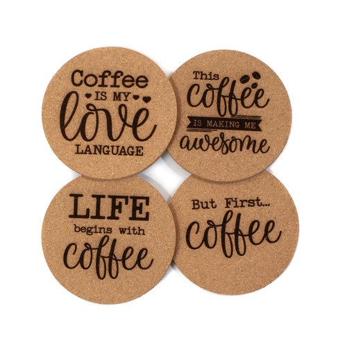 Coffee Cork Coaster Set