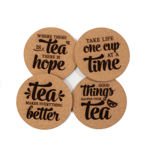 Tea Cork Coaster Set