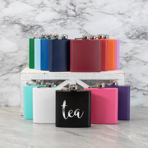 Tea Flask Stainless Steel Matte 6oz