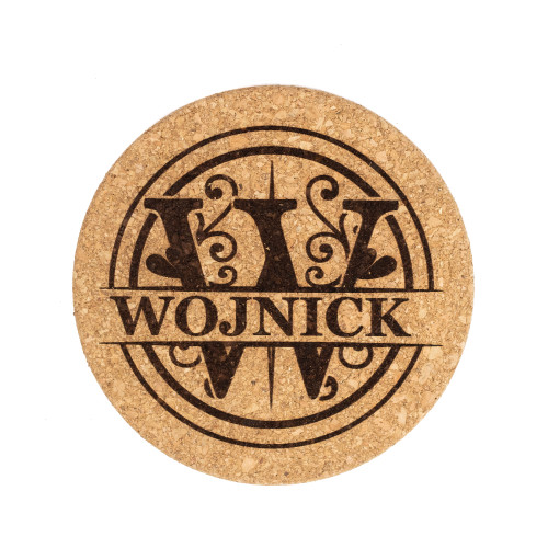 Personalized Monogram Cork Pot Holder