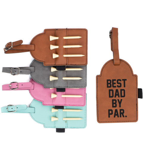 Best Dad By Par Golf Bag Tag Baum Designs