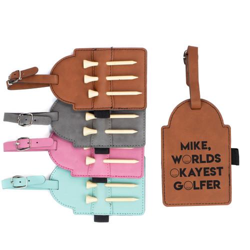 Personalized Worlds Okayest Golfer Golf Bag Tag Baum Designs
