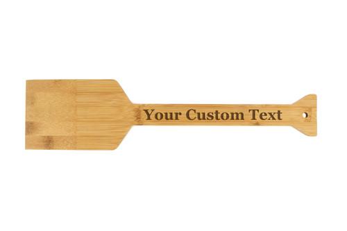 Personalized Custom Text Grill Scraper Bamboo Wood Baum Designs