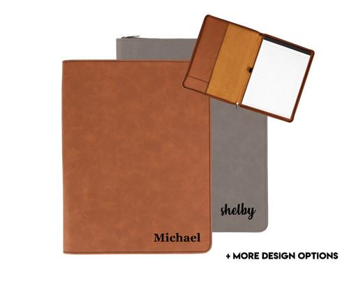 Personalized Portfolio Faux Leather Baum Designs