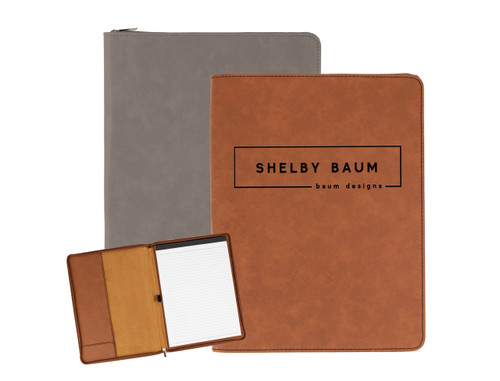Personalized Name & Business Name Portfolio Faux Leather