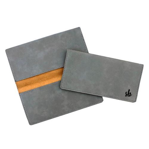 Personalized Cursive Checkbook Cover Faux Leather Baum Designs