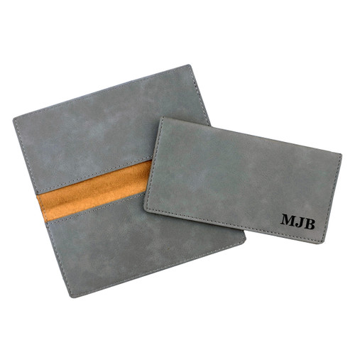 Personalized Checkbook Cover Faux Leather Baum Designs