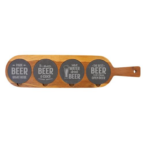 Beer Sayings Flight Board Wood And Slate Baum Designs