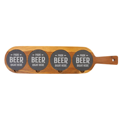 Park Beer Right Here Flight Board Wood And Slate Baum Designs