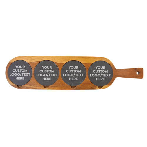 Personalized Business Logo Custom Text Flight Board Wood And Slate Baum Designs