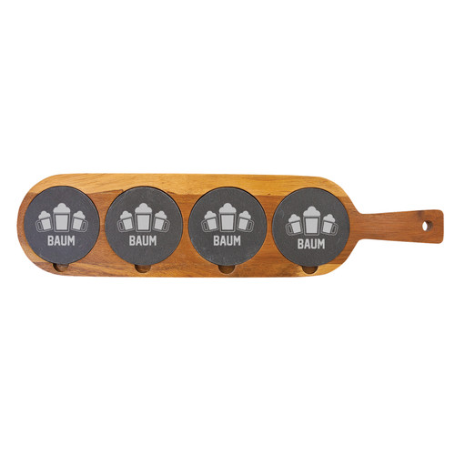 Personalized Beer Mug Flight Board Wood And Slate Baum Designs