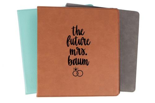 The Future Mrs Personalized Wedding Planner Binder Faux Leather Baum Designs