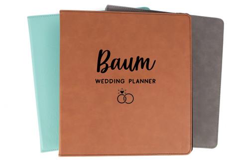 Personalized Wedding Planner Binder Faux Leather Baum Designs