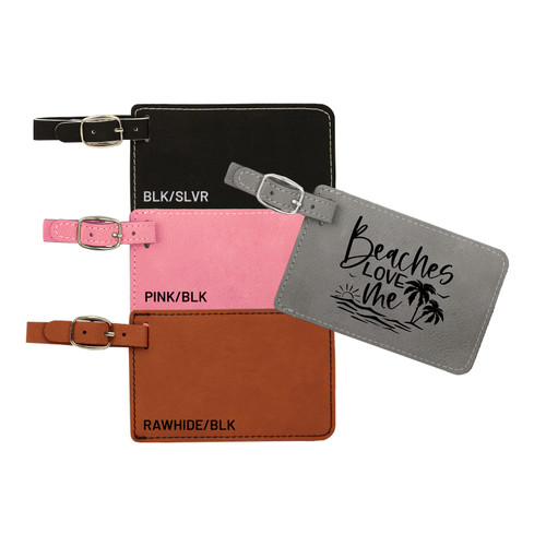 Beaches Love Me Luggage Tag Faux Leather Baum Designs