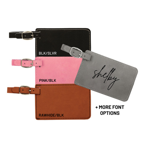 Personalized Luggage Tag Faux Leather Baum Designs