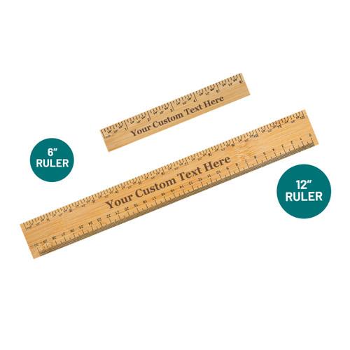 Personalized Custom Text Ruler Bamboo Baum Designs