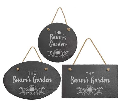 Personalized Garden Slate Sign Baum Designs