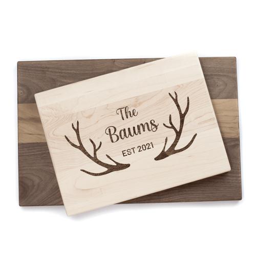 Personalized Antler Cutting Board Baum Designs