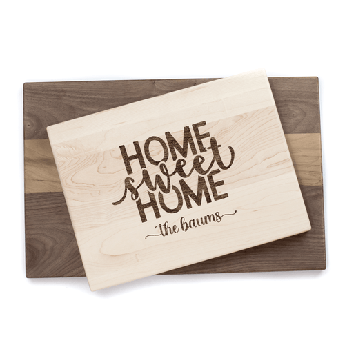 Personalized Home Sweet Home Cutting Board Baum Designs