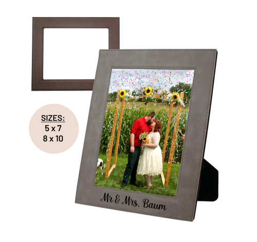 Mr & Mrs Personalized Picture Frame Baum Designs