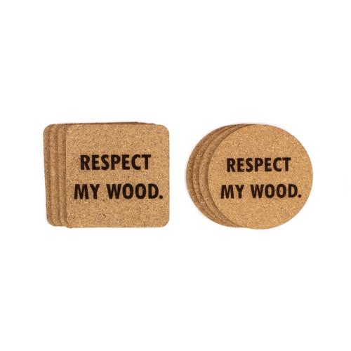 Respect My Wood Cork Coasters Baum Designs