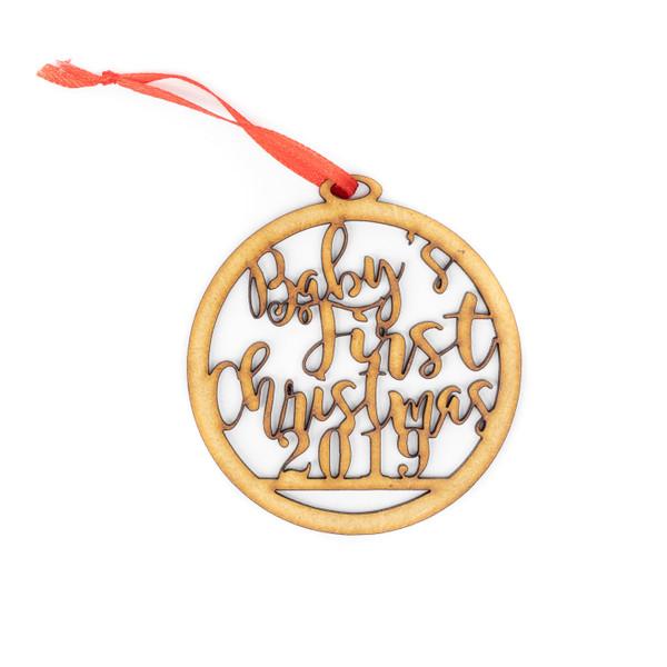 Baby's First Christmas 2019 Wood Christmas Ornament