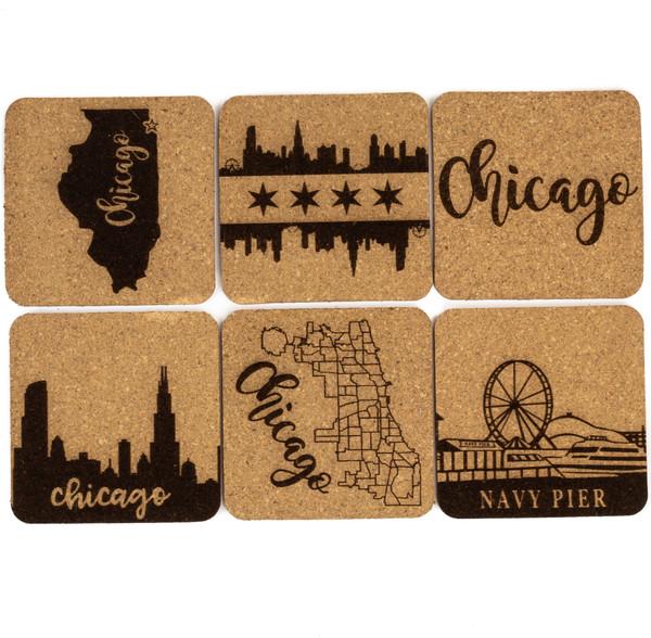 Chicago Cork Coaster Set