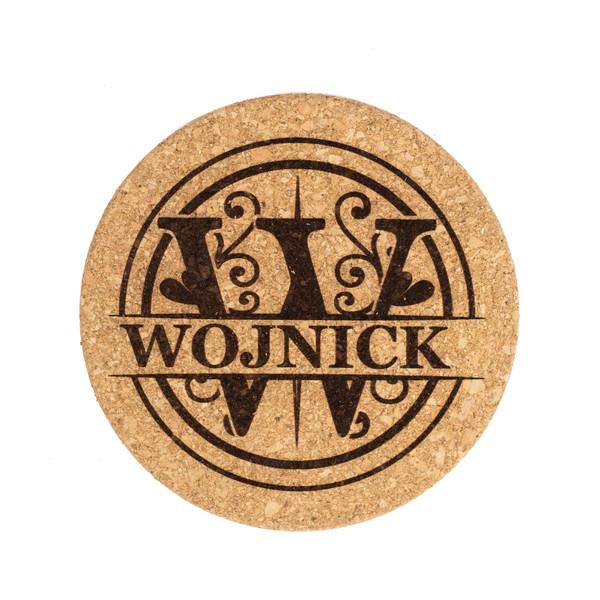 Personalized Monogram Cork Pot Holder