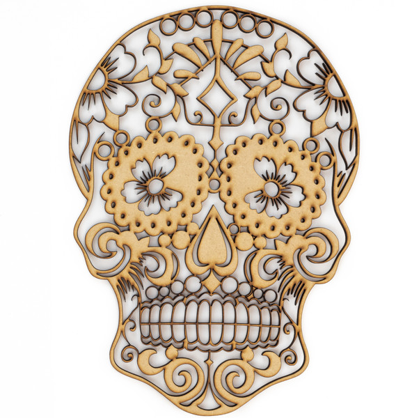 Sugar Skull Day Of The Dead Wood Sign