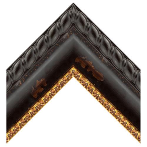 Black Distressed Gold Terra
