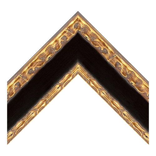 Black W/Gilding Panel W/Gold