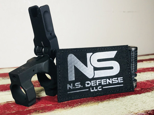 NS Defense I.R. Backed Black on Black Patch