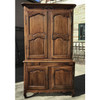 F17116 - Antique French Provincial Walnut  Cupboard