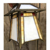 L17227 - Antique Arts & Crafts Stained Glass Lantern Pendant
