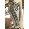 S17071 - Pair of Oversized Painted Pine Corbels