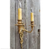 L18030 - Antique Neoclassical Style Double Arm Candle Sconce