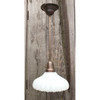 """L18035 - Custom Brass Pendant with Antique """"Sheffield"""" Style Shade"""