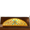 G18024 - Antique Arched Stained Glass Window